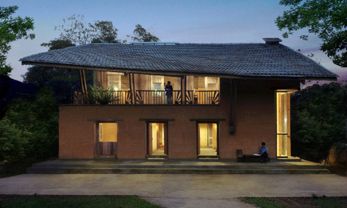 Remote 'mud' house claims architecture award