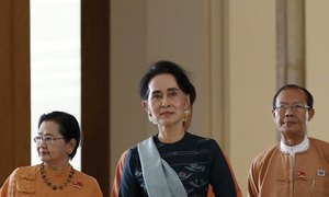 Myanmar's Aung San Suu Kyi nominated to join cabinet-parliament speaker