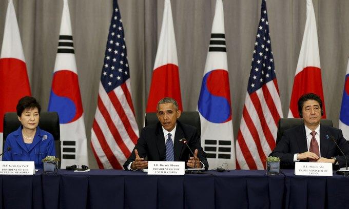 U.S., Japan, South Korea warn North Korea over 'provocations'