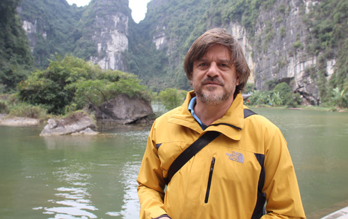 Nicolas Simon at Kong's film set in Ninh Binh, Vietnam.