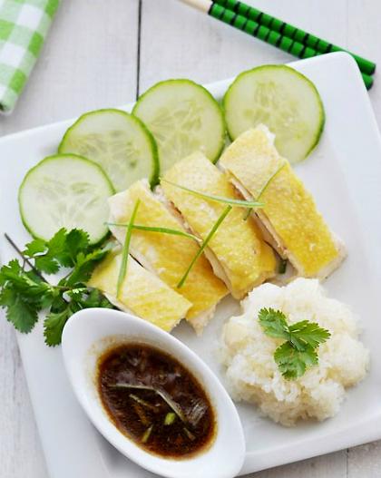 Saigon's Hainan chicken rice. Photo by Amthucsaigon