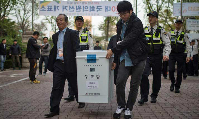 S. Korea opposition wins surprise victory in parliamentary elections