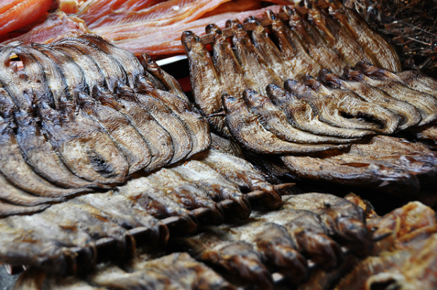 The market is famous for dried fish, especially the tren fish - a type of catfish.