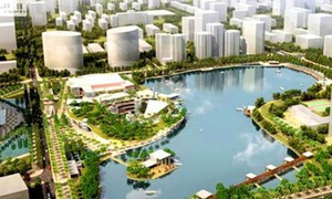 Hanoi invests $13 million on innovative anti-flood pond to brighten up urban landscape