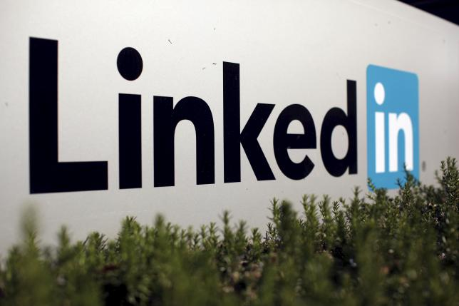 The logo for LinkedIn Corporation, a social networking networking website for people in professional occupations
