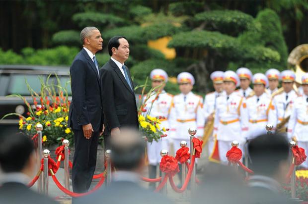 Vietnam President Tran Dai Quang and U.S. President Barack Obama. Photo by VnExpress/Giang Huy