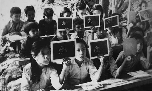 Tunnels and trenches: Vietnamese children battle through the war