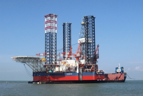 Vietnam's Tam Dao 03 drilling rig. Photo by Vietsovpetro