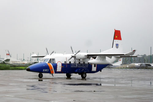 A CASA plane of the Vietnam Coast Guard. Photo by People's Army Newspaper