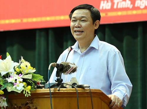 Deputy Prime Minister Vuong Dinh Hue. Photo by VnExpress/Duc Hung