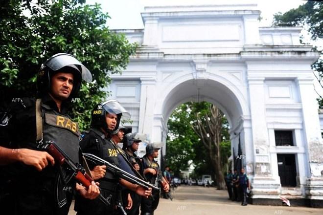Bangladesh police. Photo by AFP