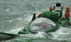 Man in a can: homemade submarine passes sea trials