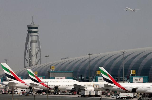 Emirates Airlines aircrafts are seen at Dubai International Airport, United Arab Emirates May 10, 2016. Photo by Reuters/Ashraf Mohammad/file photo
