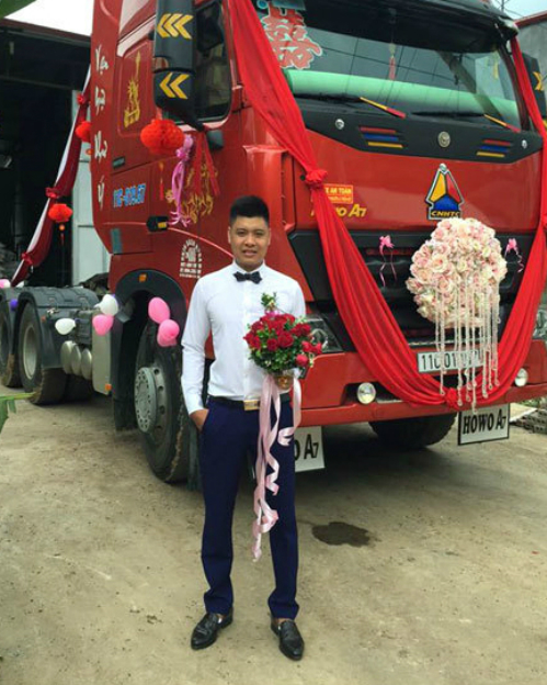 groom-uses-cargo-trucks-as-wedding-car-1