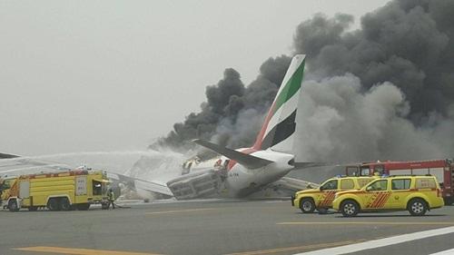 Departure flights from Dubai delayed after crash