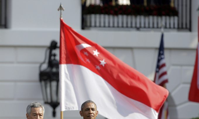 Obama, Singapore leader push for TPP in state visit