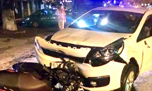 Vietnamese cop accused of drunk driving in fatal car crash