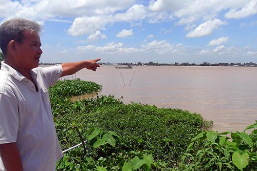 Erosion gobbling up valuable farmland in Vietnam's Mekong Delta