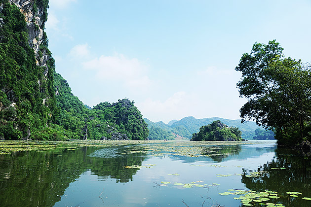 Tourists will explore the lake on small boats.