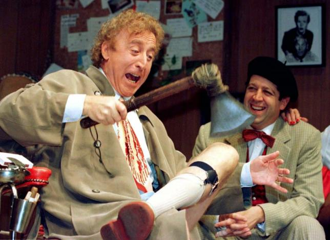 American actor Gene Wilder (L) performs alongside compatriot Rolf Saxon, October 2, during the rehearsal of a scene from Neil Simons Laughter on the 23rd Floor. Photo by Reuters/