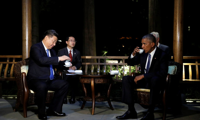 Obama presses China's Xi on South China Sea ahead of G20