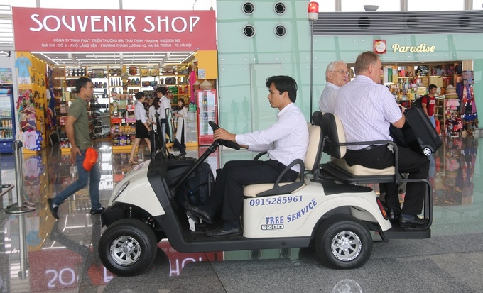 Golf buggies power up at Hanoi airport