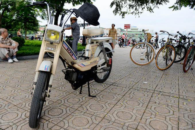 A Peugeot 103 Moped in Hanoi.
