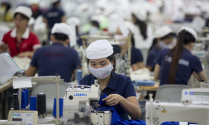 Vietnam's garment workers get paid better than Asian peers, in a sense