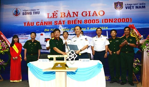 The hand-over ceremony in Da Nang City on September 25. Photo by Quan doi nhan dan news site