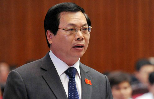 Former Minister of Industry and Trade Vu Huy Hoang at a National Assembly meeting in 2013. Photo by VnExpress/Hoang Ha
