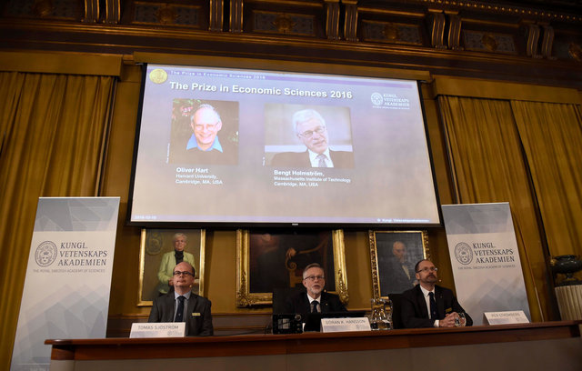 UK, Finland-born economists win 2016 Nobel Prize for Economics