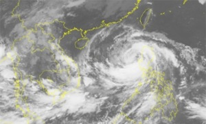 Typhoon Sarika enters East Sea