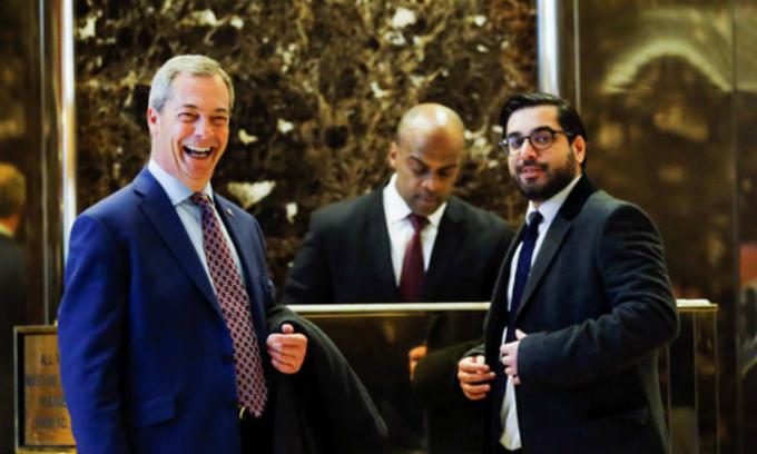 Britain's Brexit firebrand Farage meets Trump in New York