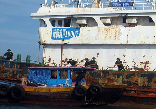 Floating ghost ship in central Vietnam likely from China: officials