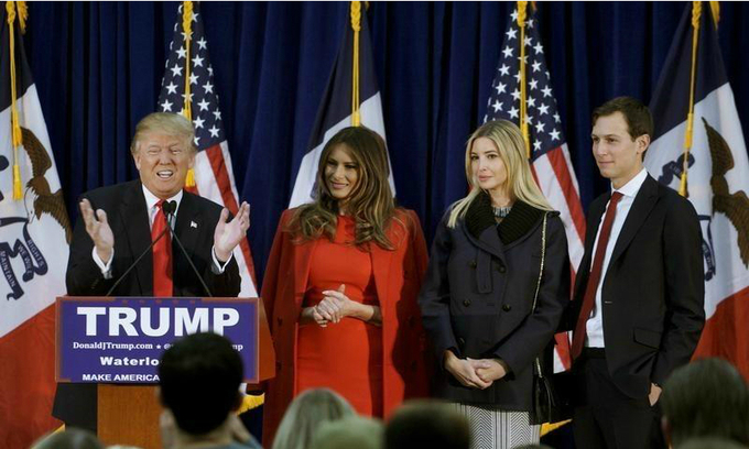 Trump makes transition to power a family affair