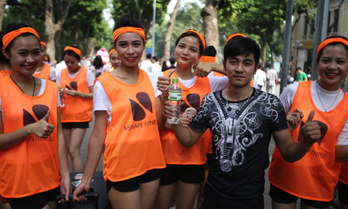 Exciting social activities at Hanoi's weekend walking street
