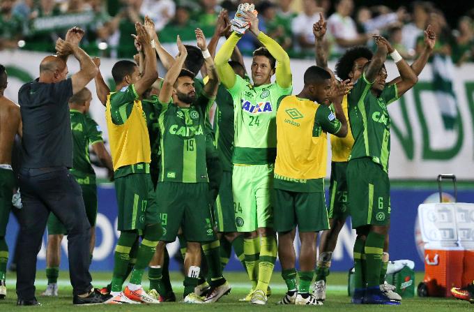Players of Chapecoense. Photo by Reuters/Paulo Whitaker/File Photo