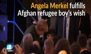 Afghan refugee boy's wish fulfilled by Germany's Merkel