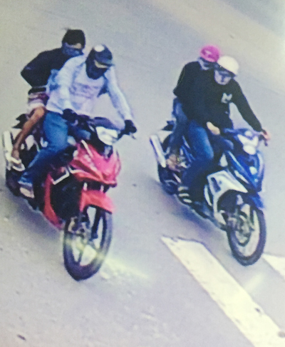 The suspects of the robbery of the gold shop in Tay Ninh on December 16, 2016