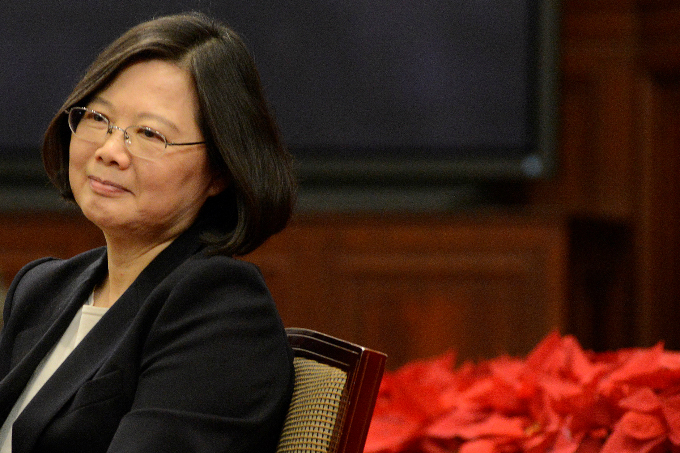Taiwanese President Tsai Ing-wen attends the New Years Eve news conference in Taipei, Taiwan December 31, 2016. Photo by Reuters/Fabian Hamacher