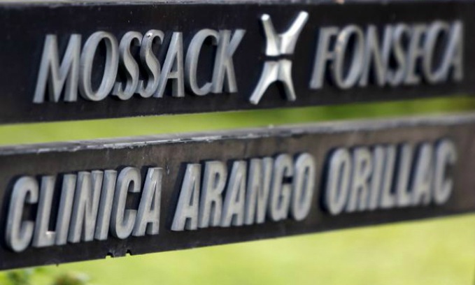 A company list showing the Mossack Fonseca law firm is pictured on a sign at the Arango Orillac Building in Panama City in this April 3, 2016 file photo. Photo by Reuters/File Photo