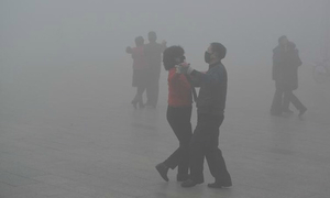 Smog returns, but Beijing says skies are getting cleaner