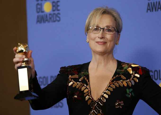 Screen legend Streep takes on Trump at Golden Globes