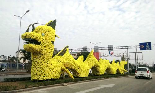 Slaying the dragon: Social media backlash slams New Year decor in northern Vietnam