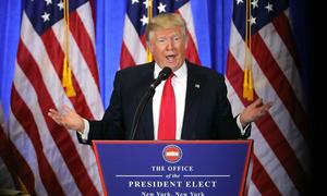 Trump news conference sets worldwide social media afire
