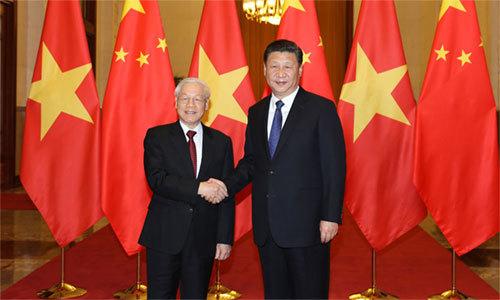 Vietnam, China leaders discuss sea tension, cooperation in Beijing