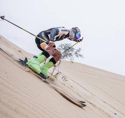 Vietnam's first Winter Games team trains on... sand