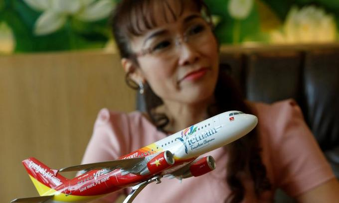 Vietnamese airline CEO soars onto global female billionaires list