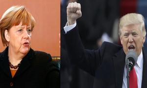 Prudent Merkel meets unpredictable Trump amid tense ties