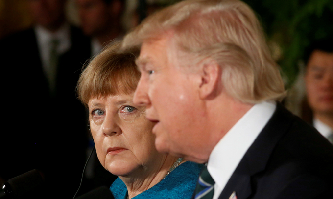 Germany hits back at Trump over NATO after icy meeting